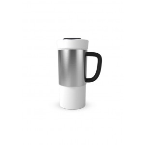 Barista Mug 17Oz Ceramic Mug With Steel Sleeve
