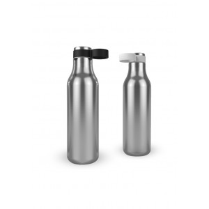 Loop Bottle 18Oz Double Wall Steel  With Carry Loop Lid