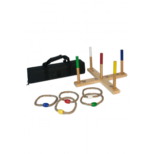 Outdoor Wooden Ring Toss Game With Carrying Bag