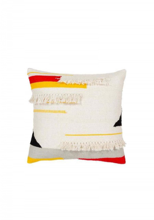 Handicraft Relaxed Natural Fringe Pillow Cover